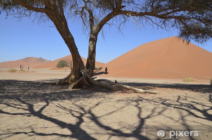 Naklejka Pixerstick Namibia - wydmy Sossusvlei - Pustynie