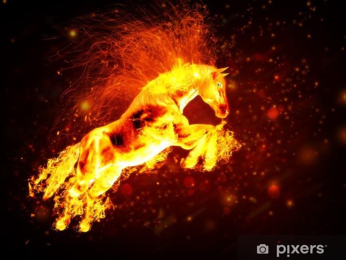 Fototapete Feuer Pferd. • Pixers® - Wir leben, um zu verändern