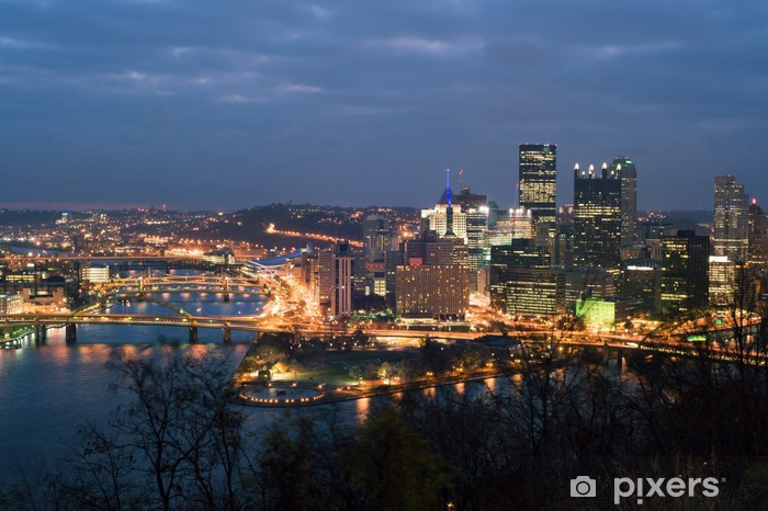 Papier peint vinyle Voir de mt. Washington le centre-ville de Pittsburgh - Amérique