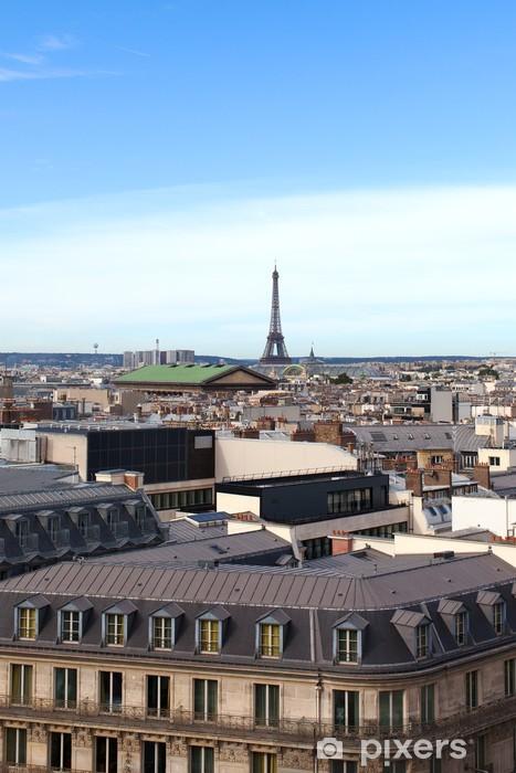 Fototapeta winylowa Paryz dachy - Miasta europejskie