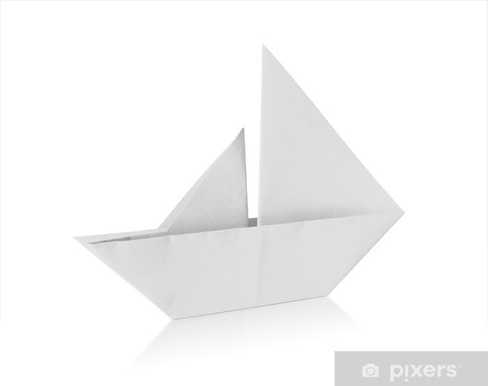 Sticker Voilier Origami Pixers Nous Vivons Pour Changer