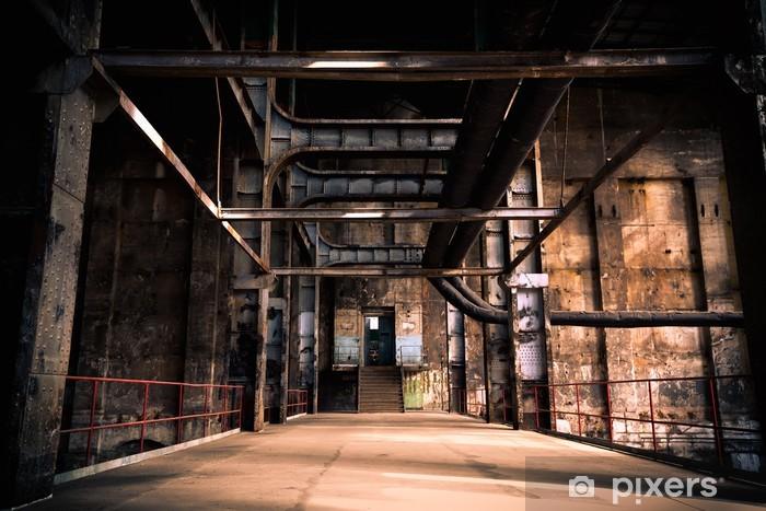 Fototapeta winylowa Opuszczony przemysłowych wnętrz - Budynki przemysłowe i handlowe