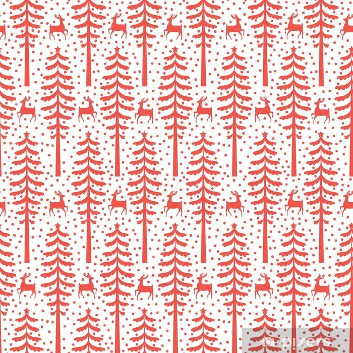 Vinyl-Fototapete Christmas seamless pattern - Hintergründe