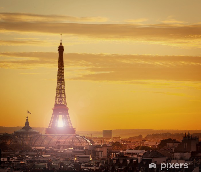 Fototapeta winylowa Paryz noca - Miasta europejskie