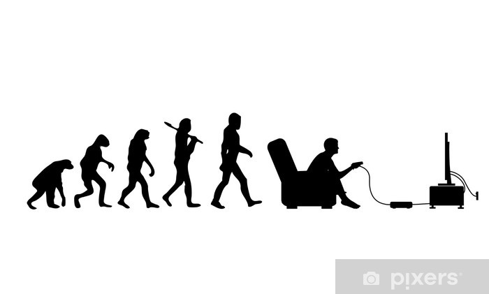 Fototapeta winylowa Gamer Evolution - Naklejki na ścianę