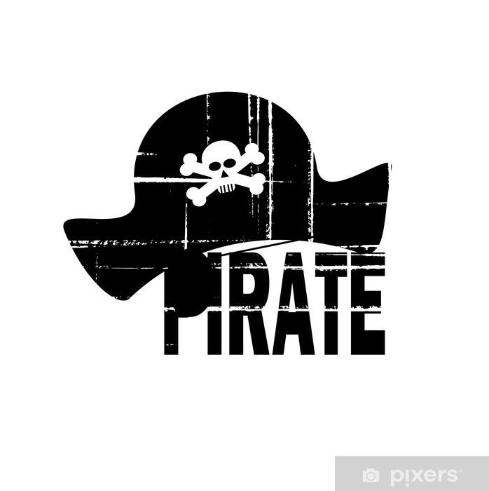 Nálepka Pixerstick Pirátský klobouk konstrukce - Značky a symboly