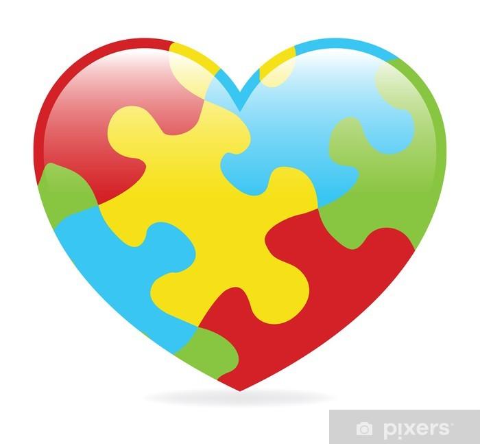 Sticker Pixerstick Coeur de l'autisme - Santé et médecine