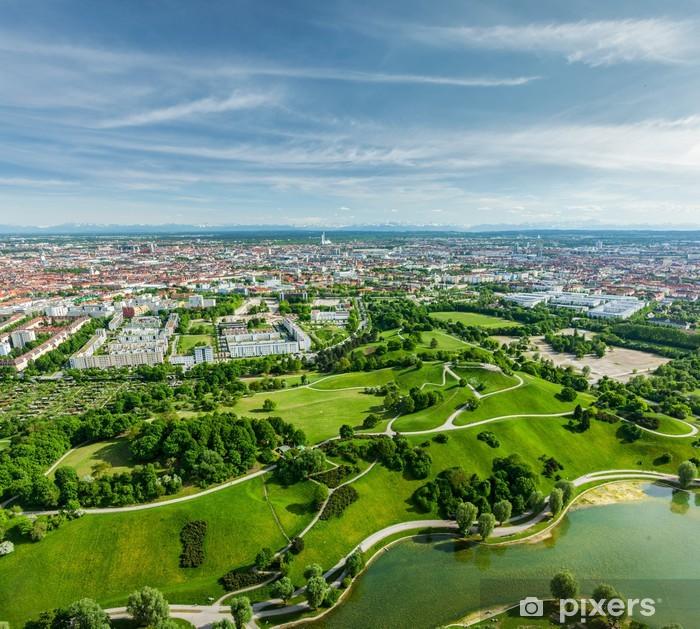 Fototapete Luftaufnahme der Olympiapark. München, Bayern, Deutschland
