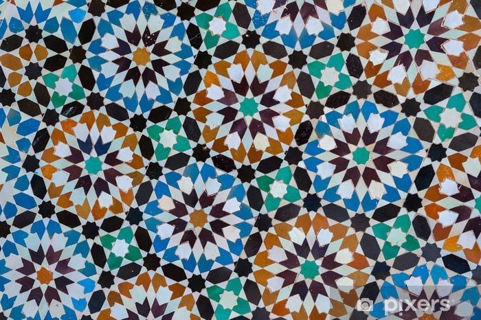 Naklejka Pixerstick Marokański rocznika tło płytek - Style