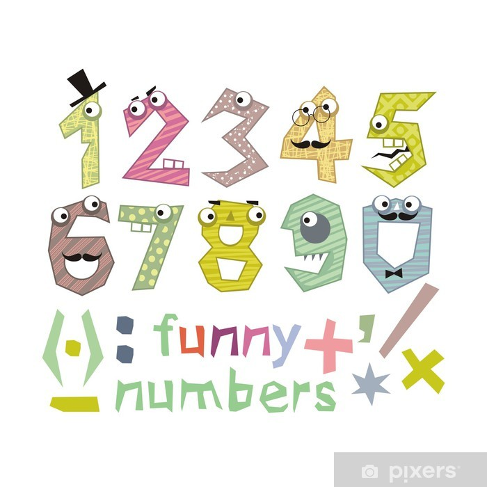 Funny Numbers Set Poster