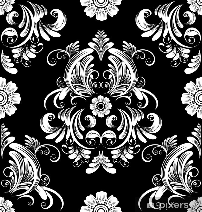 floral Vinyl Wall Mural - Themes