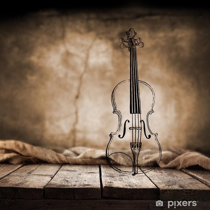 Papier peint vinyle Violon - Musique