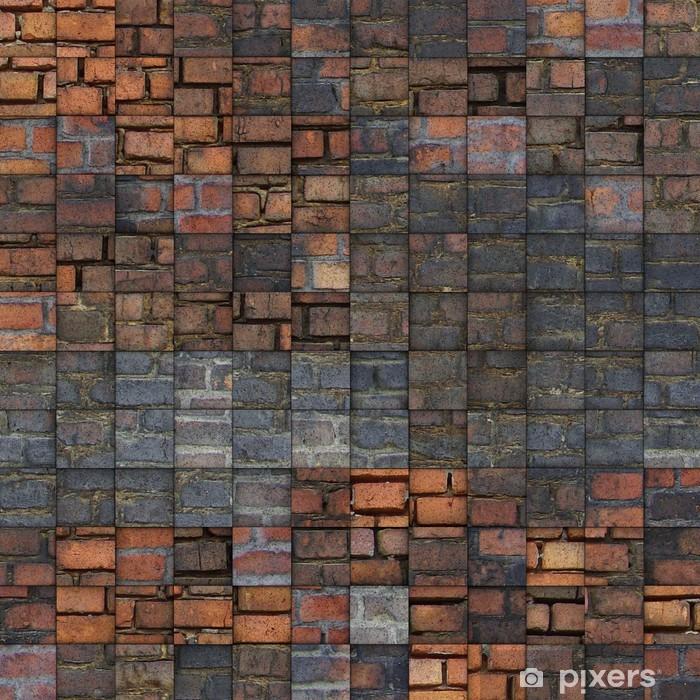 Poster Abstrakte Mosaik-Fliesen Grunge-Ziegel-Muster - Denkmäler
