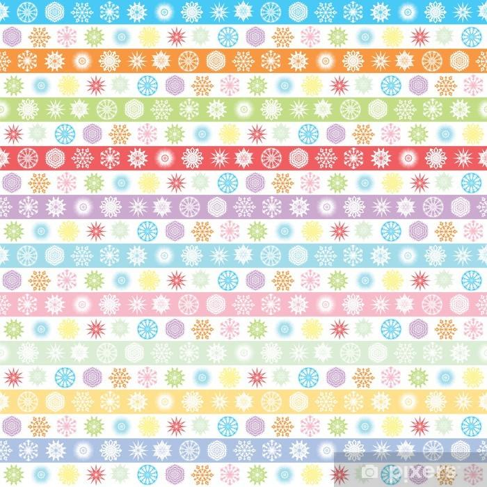 Papier peint vinyle Snowflakes - Saisons