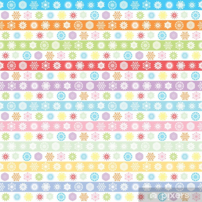 Sticker Pixerstick Snowflakes - Saisons