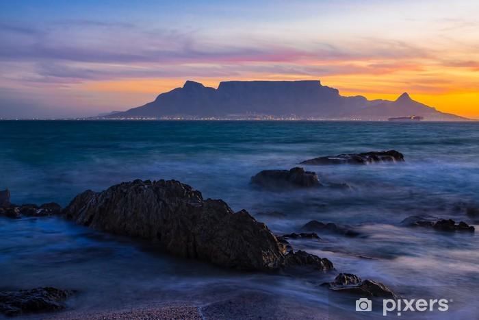 Vinyl Fotobehang Tafelberg zonsondergang - Thema's