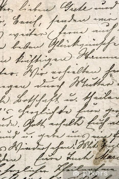 Fotomural Estándar Escritura del vintage con un texto en lenguaje indefinido - Estilos