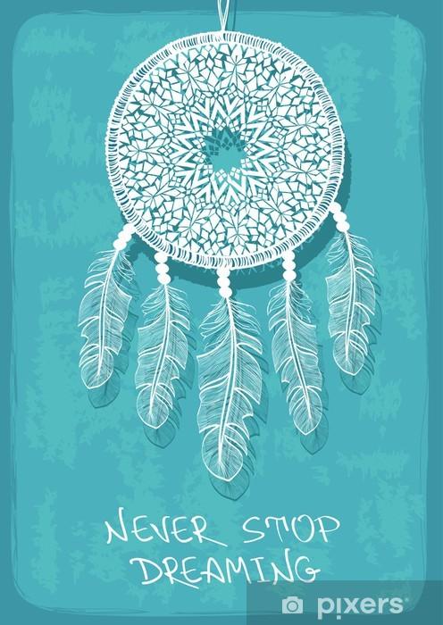 Papier peint vinyle Illustration avec dreamcatcher tribal - Évènements nationaux