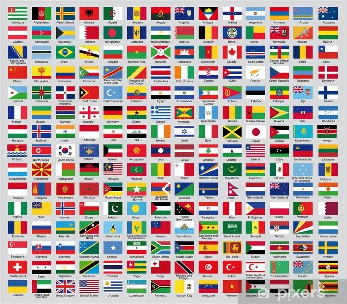 Fototapeta samoprzylepna Aktualizacja z flag narodowych na świecie 2013 - Azja