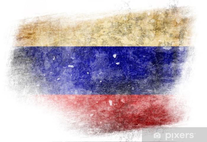 Fototapeta winylowa Flaga Rosyjskiej - Tła