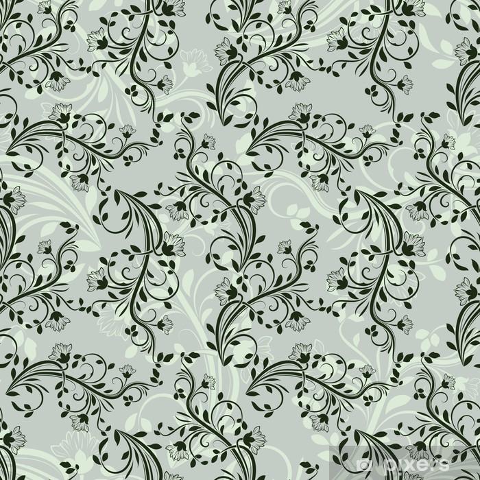 Papier Peint Motif Floral De Papier Peint Vert Transparente