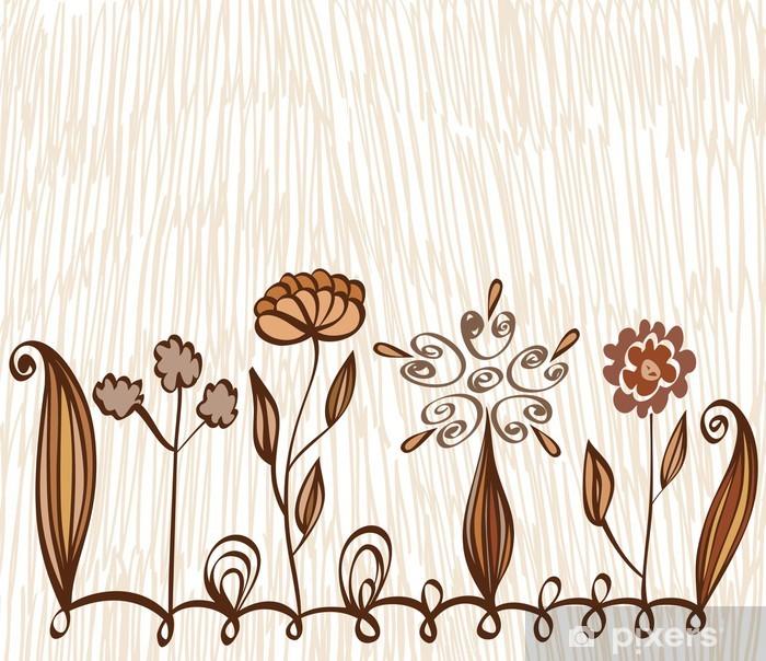Plakat Tło kwiatowe - Kwiaty