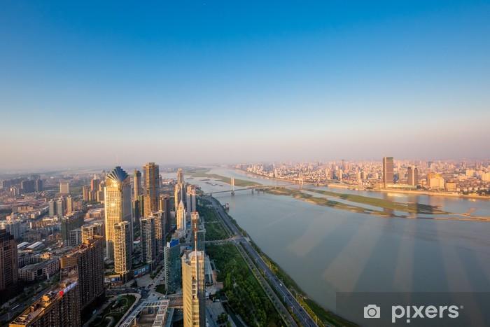 Naklejka Pixerstick Aerial widok na miasto - Pejzaż miejski