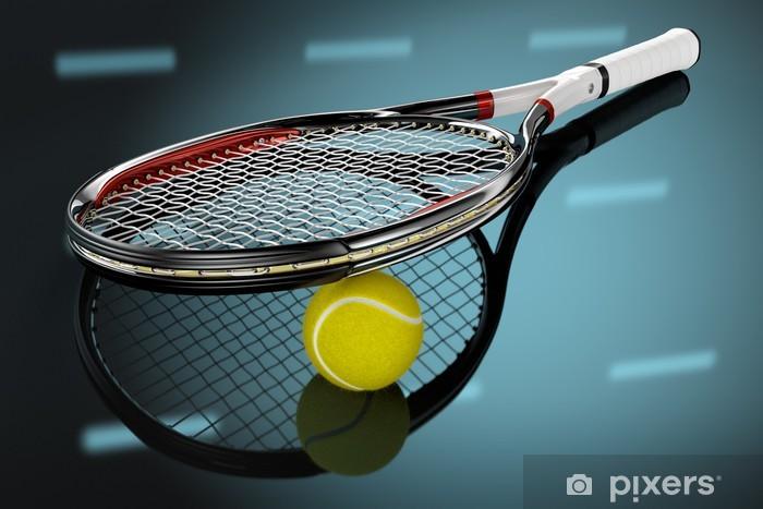 Fototapet Tennisracket med boll • Pixers® - Vi lever för förändring 89874bdebb29d