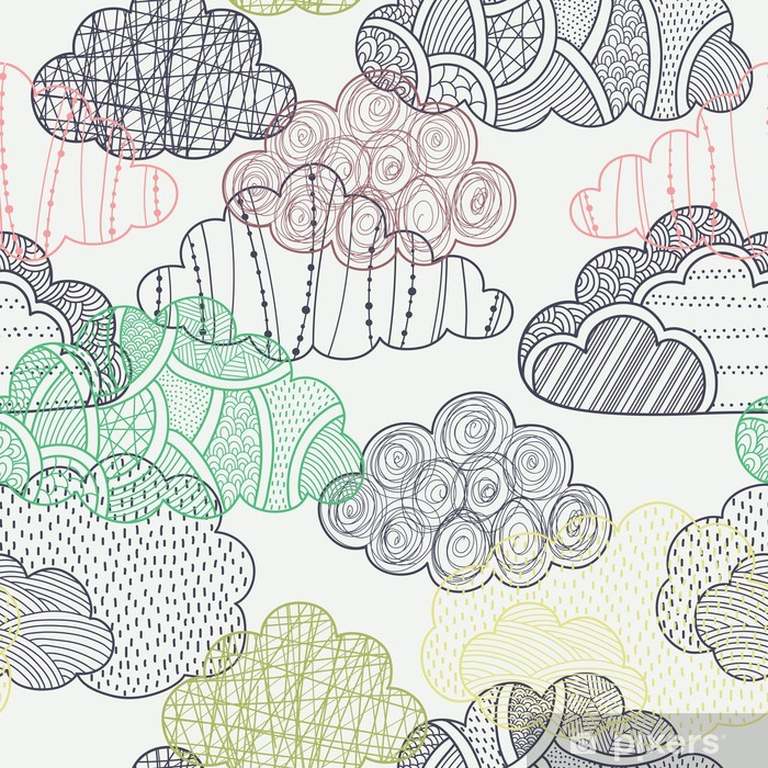 Clouds seamless pattern Vinyl Wall Mural - Themes