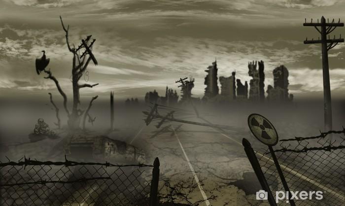 Vinyl Fotobehang De illustratie op het thema van de apocalyps - Thema's