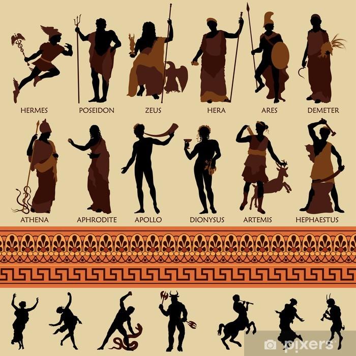 All 12 Greek Gods and Ancient Mythology Pixerstick Sticker - Imaginary Animals