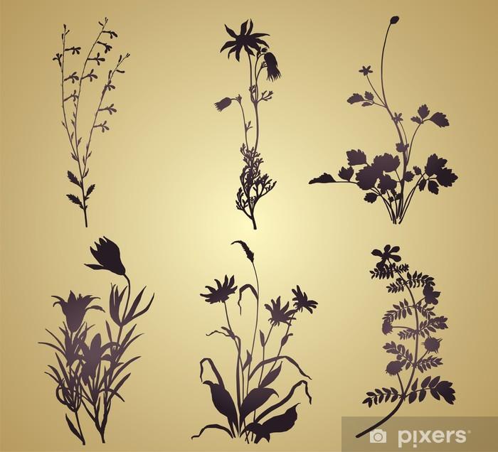 Poster Motifs végétaux floraux, carte de mariage, Inde Royal - Célébrations