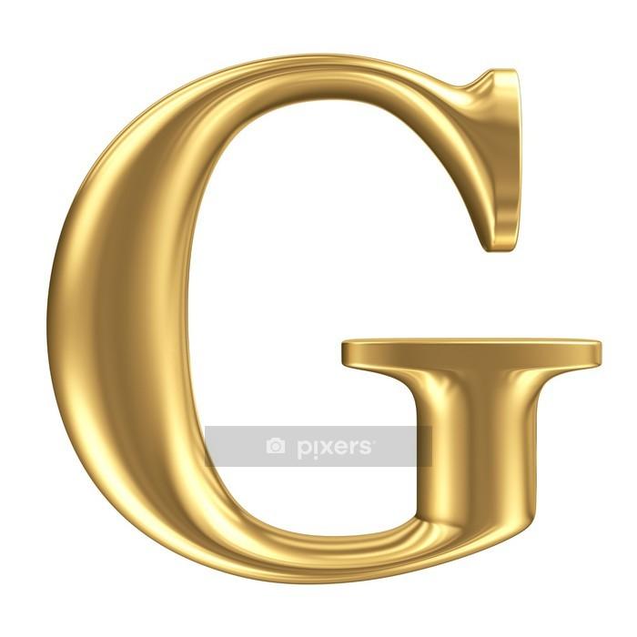 Naklejka na ścianę Złote matt letter G, biżuteria collection font - Finanse