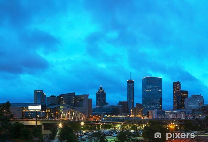 Downtown Atlanta at night time Vinyl Wall Mural - America