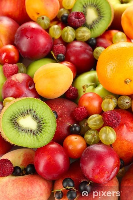 Assortment of juicy fruits background Pixerstick Sticker - Destinations