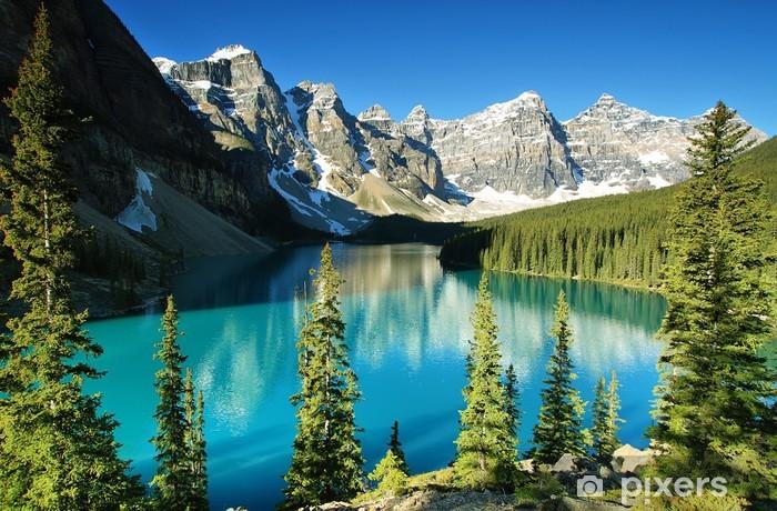 Fototapeta winylowa Jeziora morenowe, Park Narodowy Banff - Lato