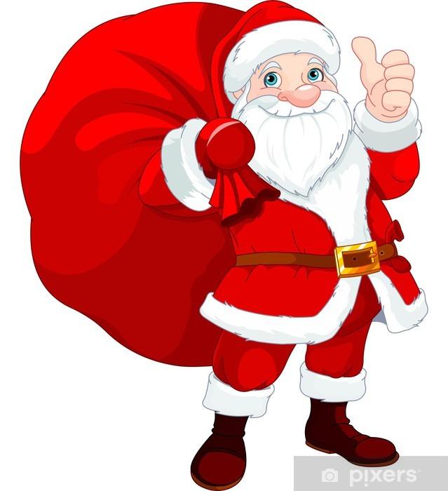 df10cb13d7 Sticker Père Noël avec un sac • Pixers® - Nous vivons pour changer