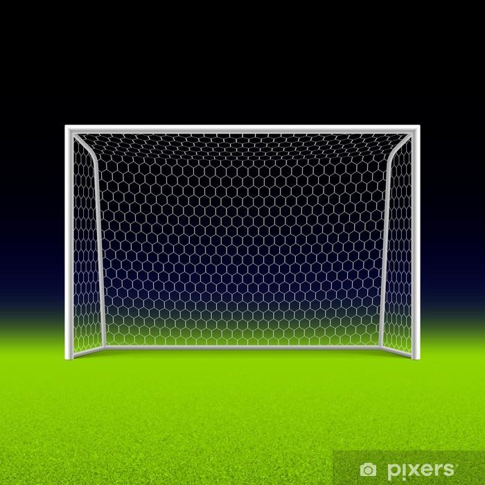 Kjøleskapsklistremerke Fotballmål på svart - Kamper og Turneringer