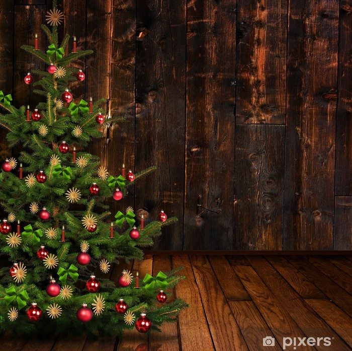 weihnachten auf der alm wall mural pixers we live to. Black Bedroom Furniture Sets. Home Design Ideas