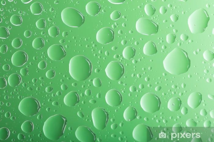 Carta Da Parati Acqua Verde Chiaro Gocce Su Sfondo Verde Pixers