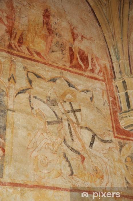 Naklejka Pixerstick Cheylat kaplica św Dżinów w Dordogne - Wakacje