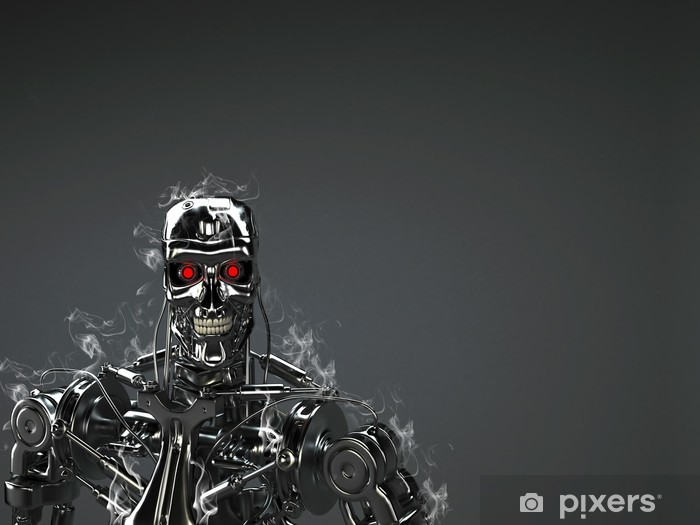 Fototapeta winylowa Robot background -