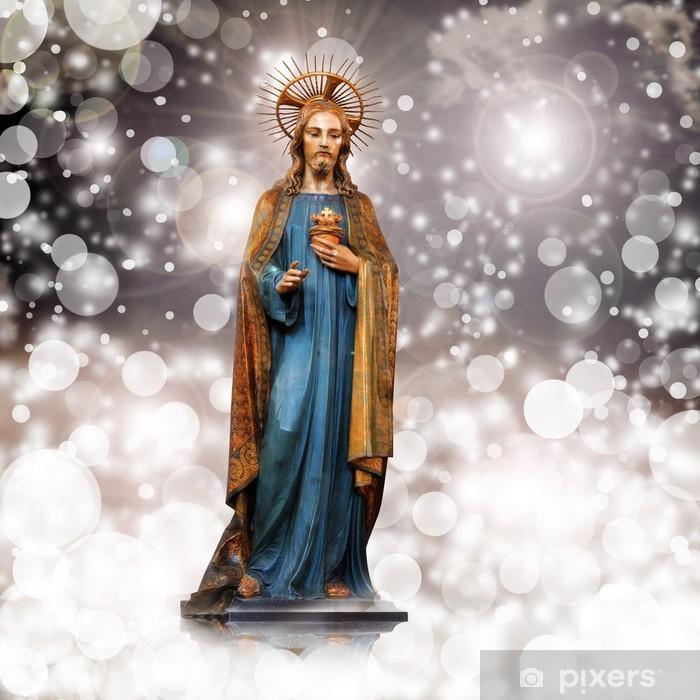 Poster Jesus Christus, Statue, Weihnachten, stieg Hintergrund - Themen