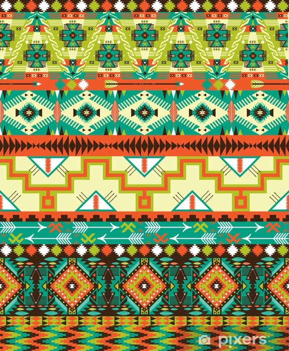 Fotomural Estándar Aztec sin patrón geométrico - Estilos