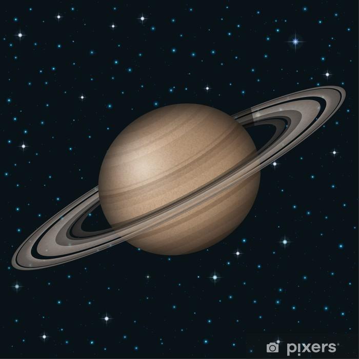 Papier peint vinyle Planète Saturn dans l'espace - Planètes