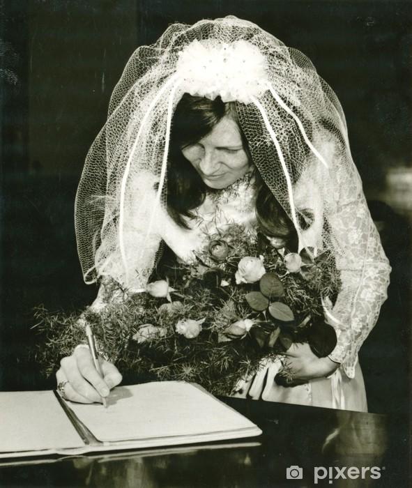 Naklejka Pixerstick Bride (dokument jest podpisany) - ok. 1970 - Pary