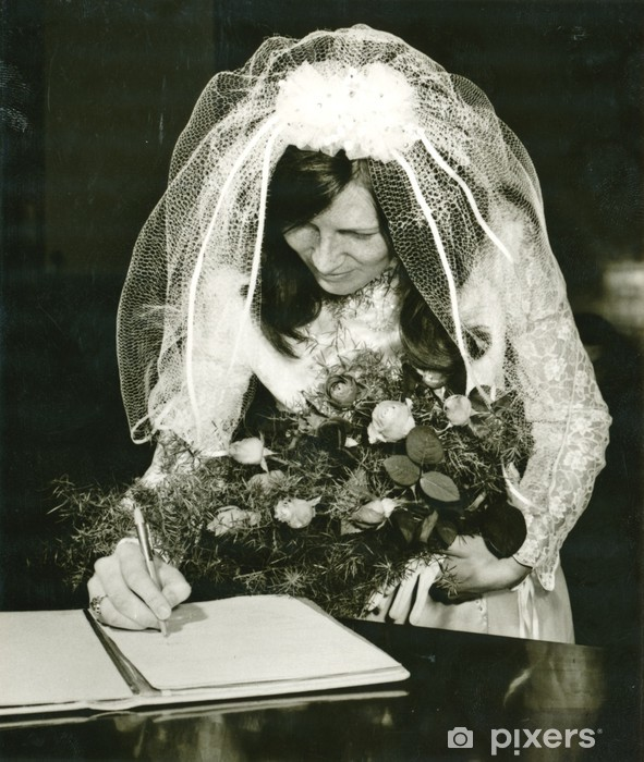 Vinilo Pixerstick La novia (el documento está firmado) - alrededor de 1970 - Parejas