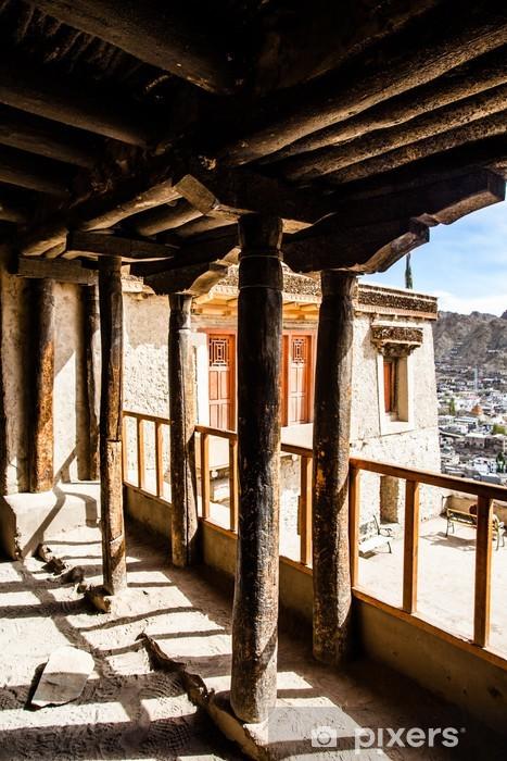 Leh Monastery looming over medieval city of Leh Vinyl Wall Mural - Asia