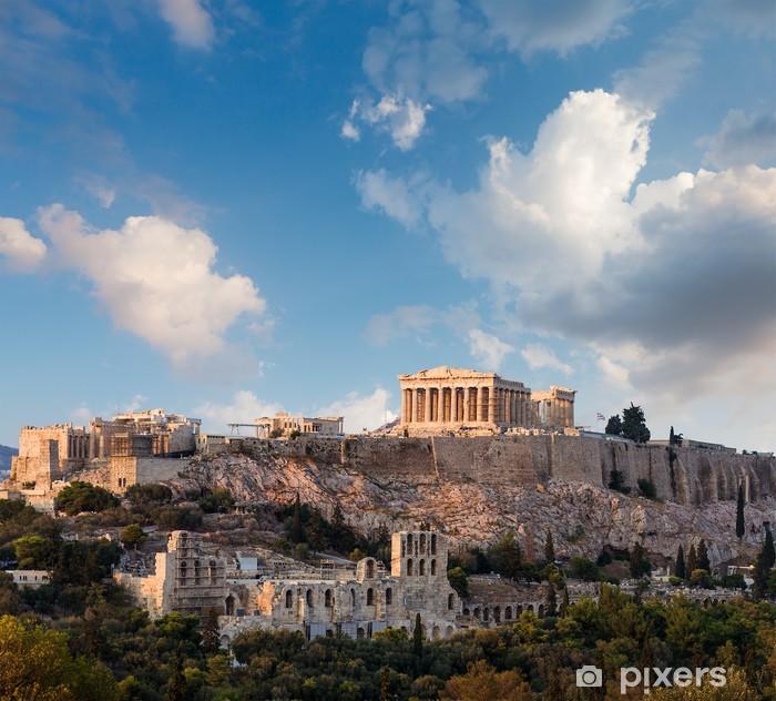 Vinil Duvar Resmi Parthenon, Atina Akropolis, Atina, Yunanistan -