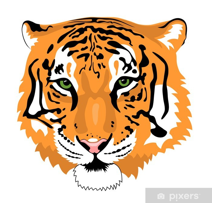 Naklejka Pixerstick Tygrys - Ssaki